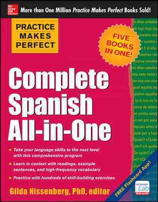Complete Spanish All-in-One By Nissenberg, Gilda